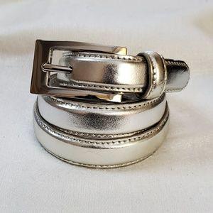 Silver Skinny Belt sz M #1323